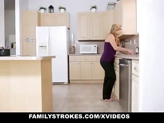 FamilyStrokes - Warm Step-Sister And Jocular mater Tricked And Romped Wits StepBro