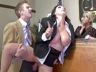 Busty apologist beauty gets her pussy plowed in court
