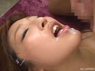 Mizukawa Sumire loves swallowing cum after getting pounded